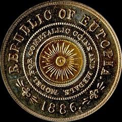 886 Bi-Metallic Eutopia Dollar reverse
