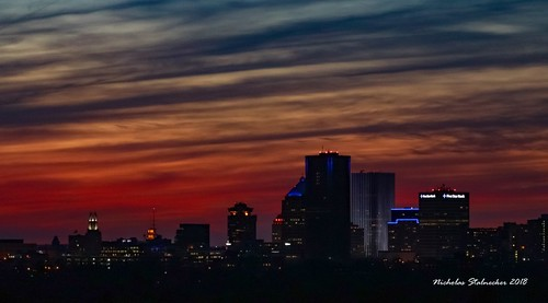 rochester ny roc city skyline night lights canon rebel t7i clouds outdoors twilight