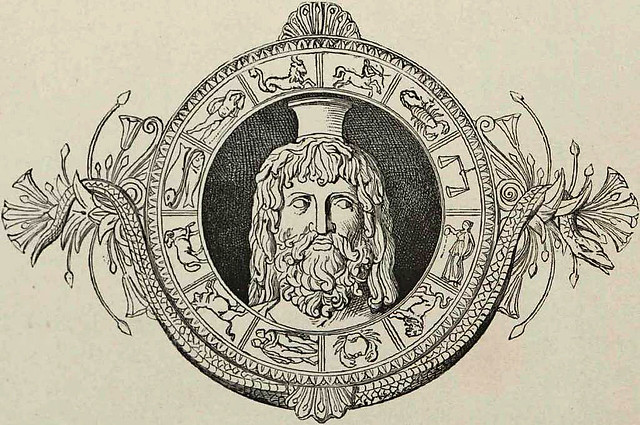 Head of Serapis within a zodiac