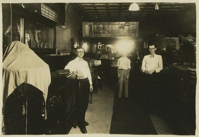1925 or so - Theodore Bauer barber and music shop