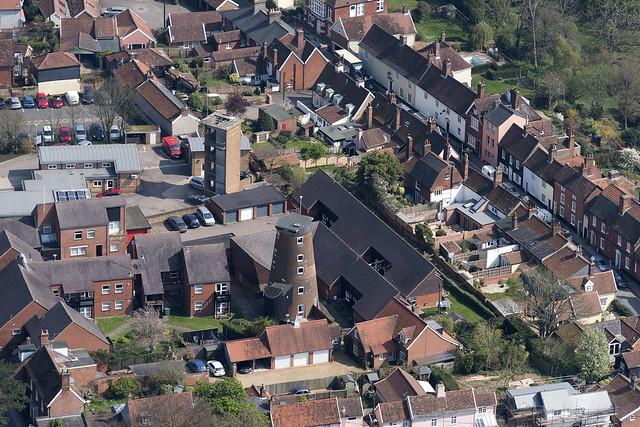 Trickers Mill in Woodbridge - Suffolk aerial