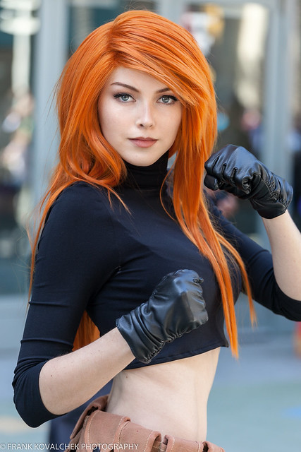 Cosplayer as Kim Possible at the 2018 Wondercon - Sunday