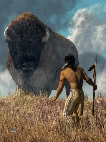 The Hunter and the Buffalo