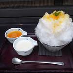 Japanese Ice Shaved Dessert - Summer Orange (with Rare Cheese Sauce)