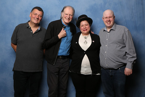 Steven Moffat, David Bradley Me as Missy, and Matt Lucas | by DiHard11