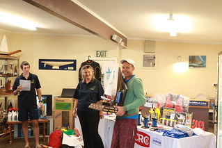 First Sailor and winner of the RSA Trophy, Rohan Lord (PBC) | by PLSC (Panmure Lagoon Sailing Club)