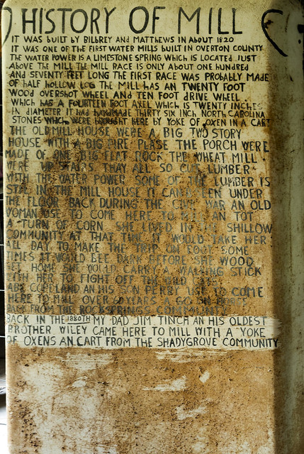 Historic documentation, Old Mill, Overton County, Tennessee 1