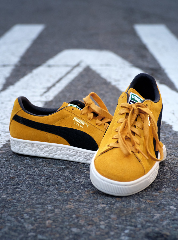 timeless design 5681f 231d7 Puma Suede Classic Archive / Mineral Yellow - Puma Black ...