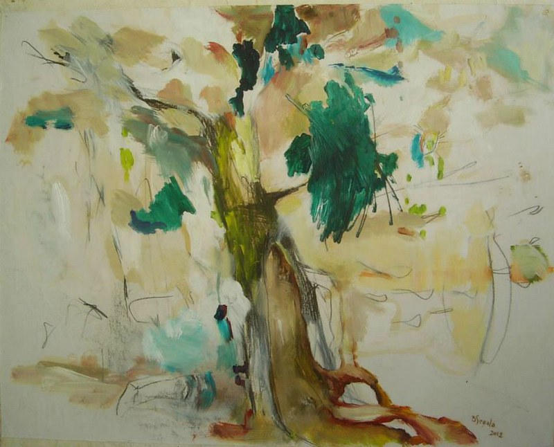 Arbre - 60x73 cm. Oil on paper 2012