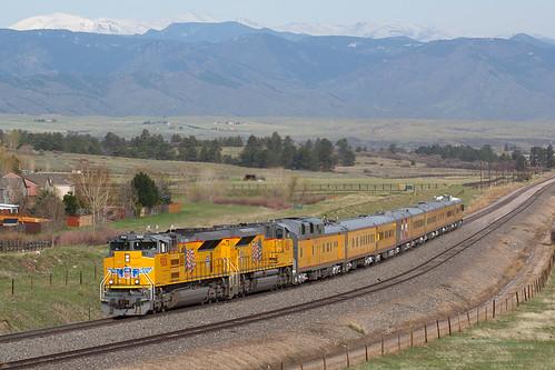 up unionpacfic up9008 emd sd70ace sd70aht4c castlerock orsa colorado jointline engineeringspecial upengineeringspecial train railroad