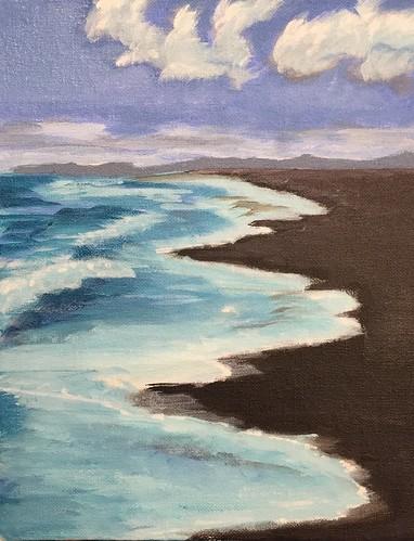 blacksandbeach hawaii art painting shawnshawn