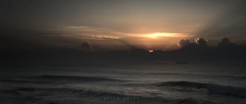 ocean seascape sunrise sea morning dawn sun outdoors water sky shipsatsea horizon cinemascope