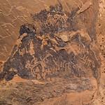 Petroglyphs in qadeer sand stone castle, Al-Jawf Province, Al-Qadeer, Saudi Arabia
