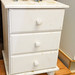 White painted pine 3 drawer locker E35 70 in stock