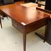 Mahogany two drawers desk E140