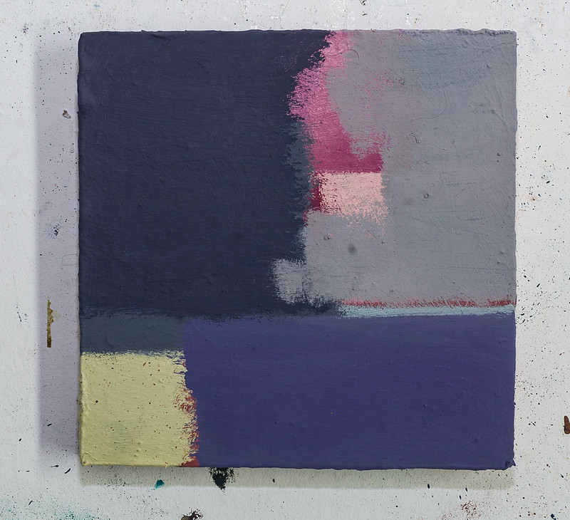 sidekick 11, 20x20 cm, Eitempera,Acryl,Öl auf Holz, 2018