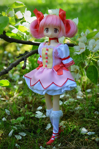 Spring, flowers and Madoka   by Emily-Noiret