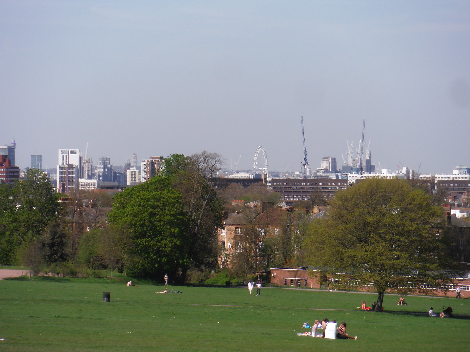 London Eye from Brockwell Park SWC Short Walk 39 - Brockwell Park (Herne Hill Circular or to Brixton)