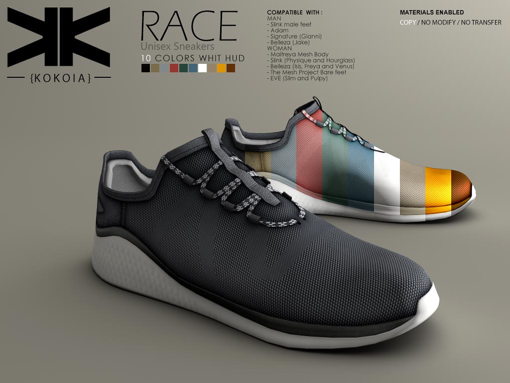 Race :: Unisex Sneakers :: 10 Colors | Purchase | Shop in Se