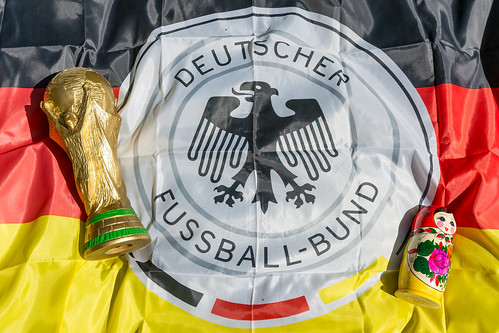 World Cup Trophy, German flag and babushka doll | by marcoverch