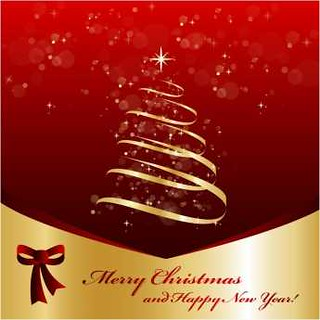 free vector Merry Christmas & Happy new Year Tree Design | by cgvector