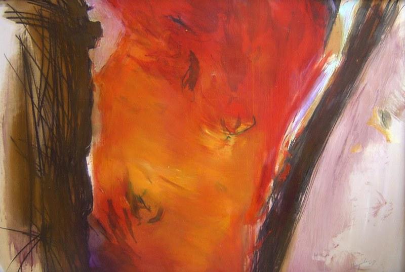 Vulcano - 63x94 cm. Oil on paper 2013