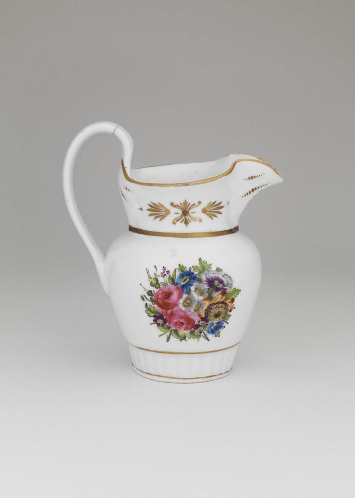 Gilt and Enamel-Decorated Porcelain Pitcher