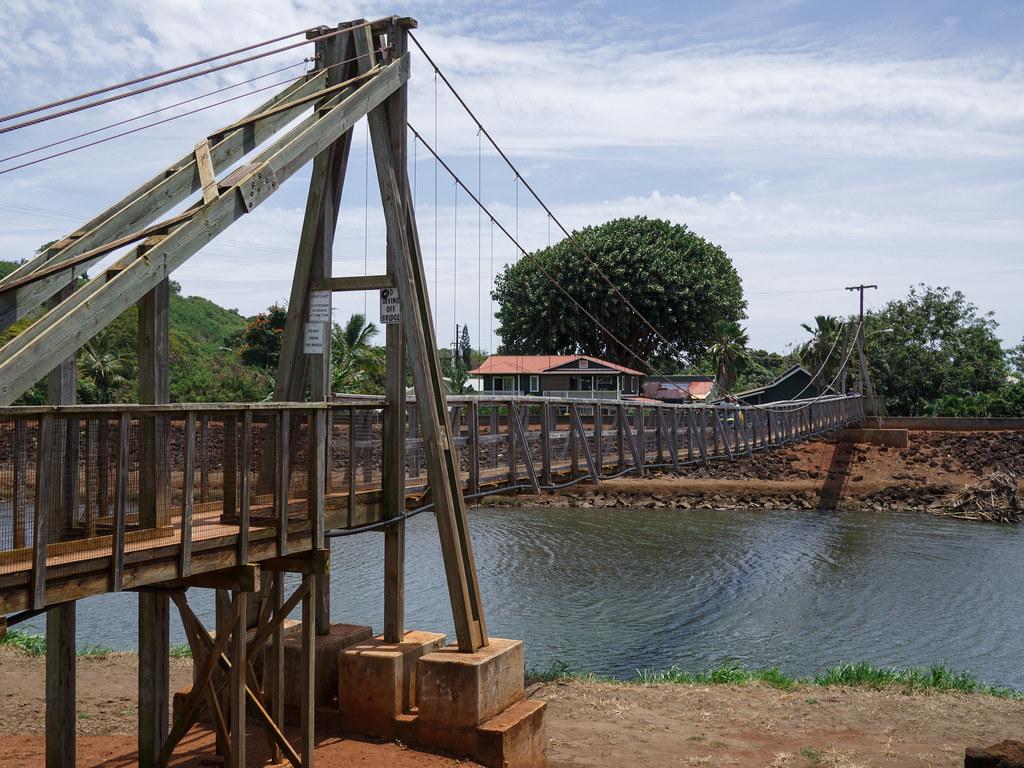 Hanapepe Swinging Bridge Wooden Suspension Bridge Flickr