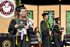 """A graduate smiles as she walks off stage with her diploma at the commencement ceremony on Friday, May 11, 2018.   Go the Hawaii Community College's Flickr album for more photos from the Hilo ceremony: <a href=""""https://www.flickr.com/photos/53092216@N07/albums/72157696831286925/with/41216251825/"""">www.flickr.com/photos/53092216@N07/albums/721576968312869...</a>"""