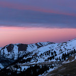 Mountain at Sunset from Arapahoe Basin