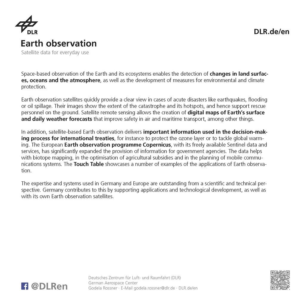 DLR Exhibit-Handout ILA 2018   The German Aerospace Center