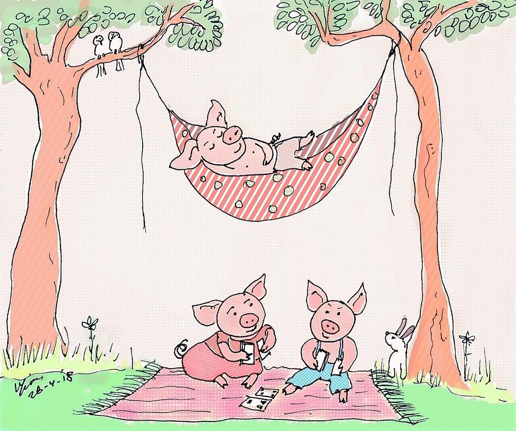 Pink for Illustration Friday