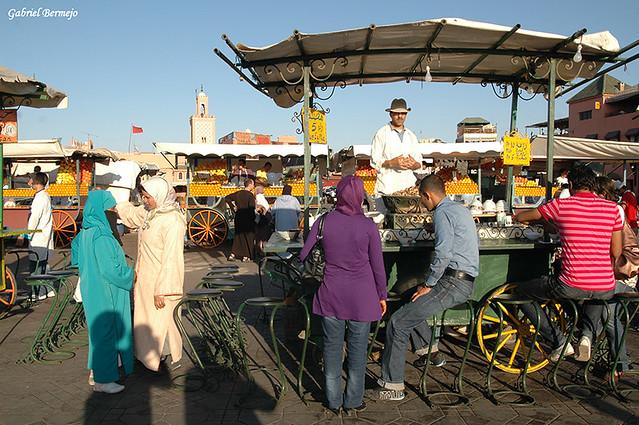 Tarde en la plaza - Marrakech