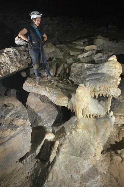 Megan Atkinson, flowstone, Bluff River Cave, Jackson County, Alabama 1