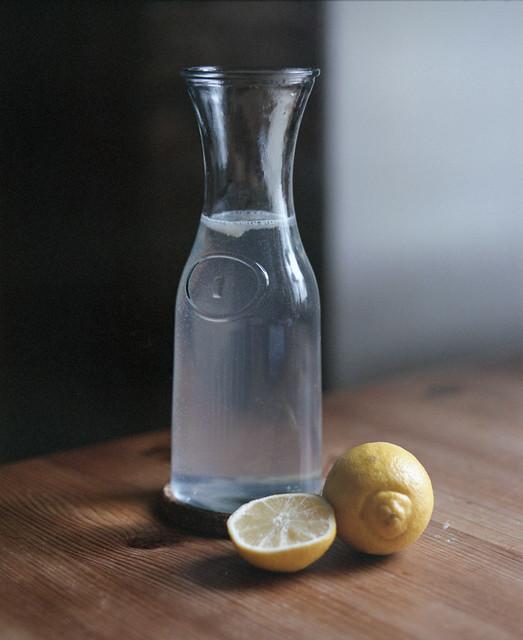 Lemon, water