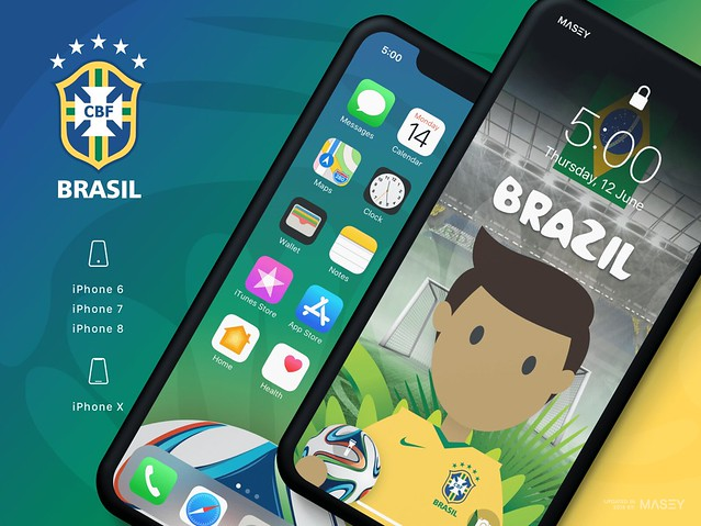Team Brazil iPhone Wallpaper