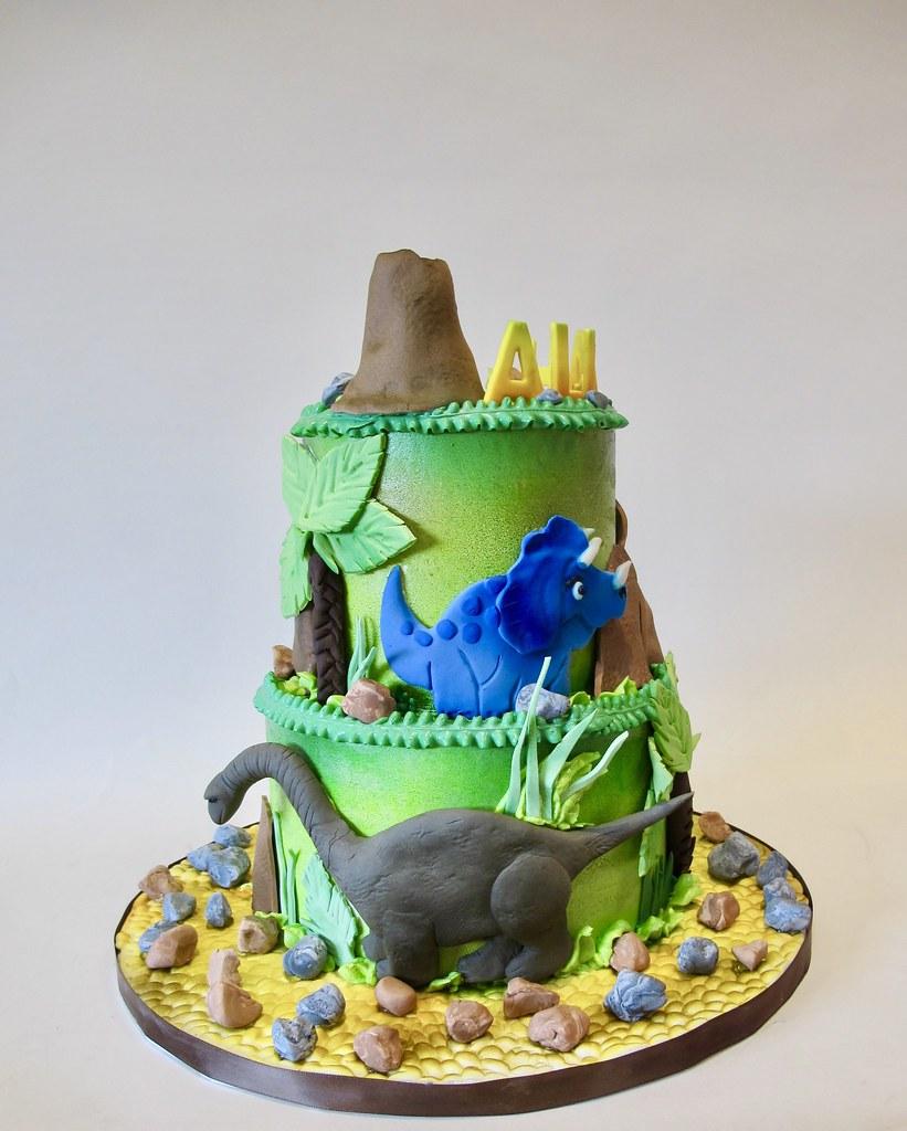 Dinosaur Birthday Cake 301270 | Dinosaur Birthday Cake with … | Flickr