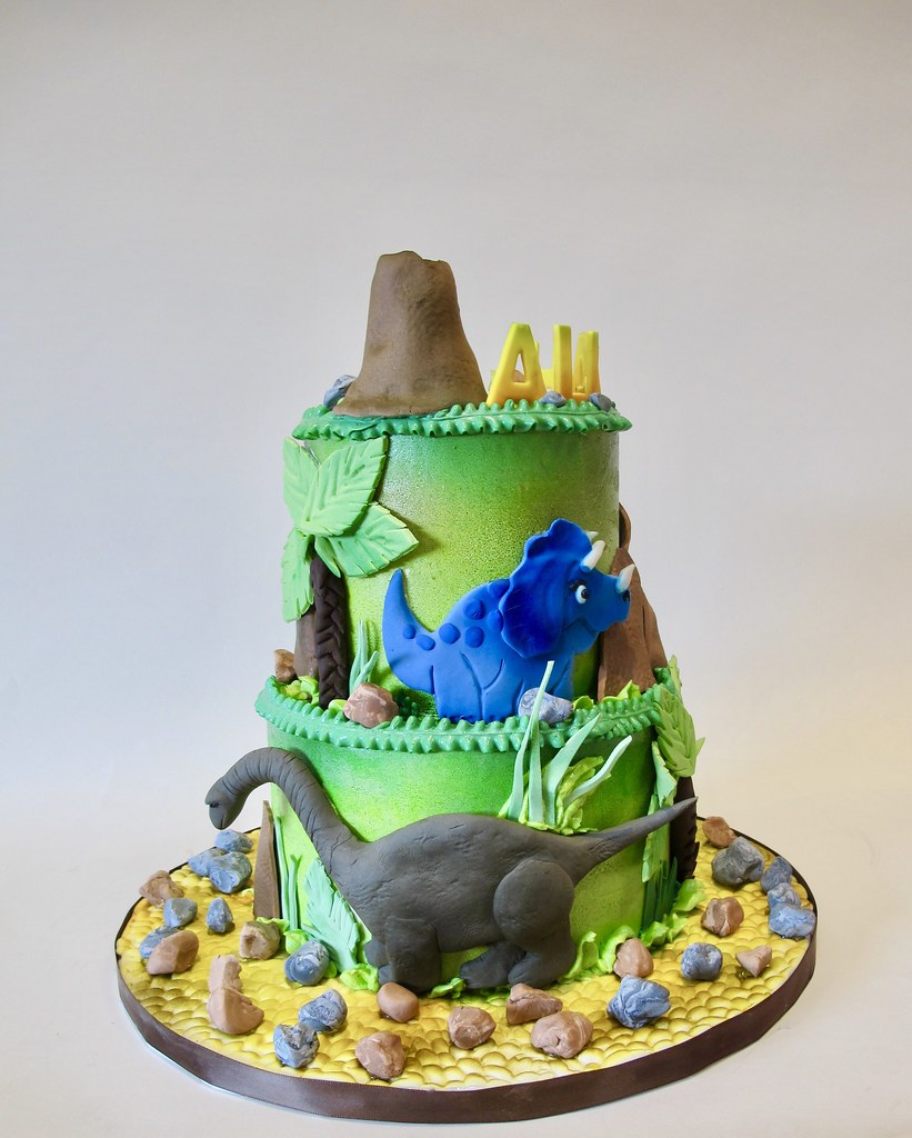 Admirable Dinosaur Birthday Cake 301270 Dinosaur Birthday Cake With Flickr Personalised Birthday Cards Bromeletsinfo