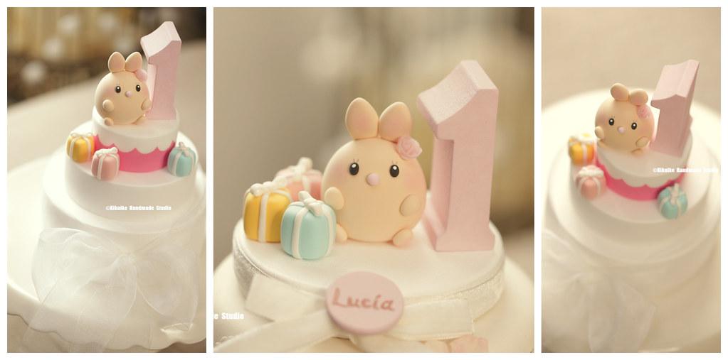Incredible Handmade Baby Rabbit Custom Birthday Cake Topper Bunny Ca Flickr Personalised Birthday Cards Veneteletsinfo