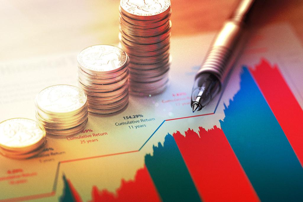 Stock market returns | Investment concept image showing stac… | Flickr
