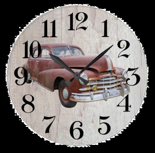 reloj de pared coche clásico