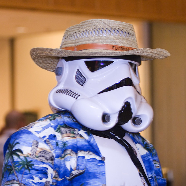 Even Stormtroopers need a vacation.