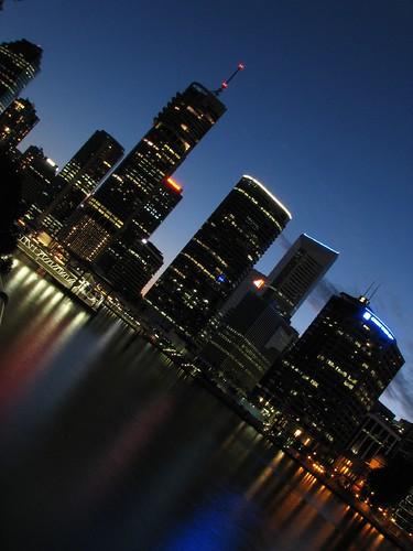 Brisbane at Night by David de Groot