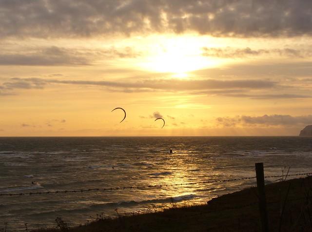 kite-surfing at brook bay #2