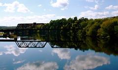 Kennebec River and bridge