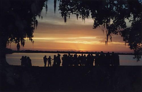 wedding sunset louisiana silohette newiberia jeffersonisland lakepeigneur