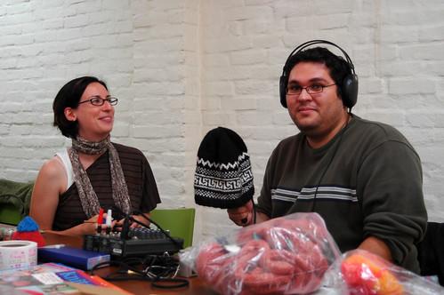 Guido interviewing Kim   by knitgrrldotcom