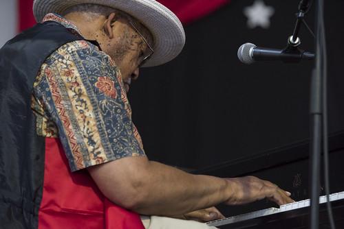 Ellis Marsalis during Jazz Fest Day 7 on May 5, 2018. Photo by Ryan Hodgson-Rigsbee RHRphoto.com