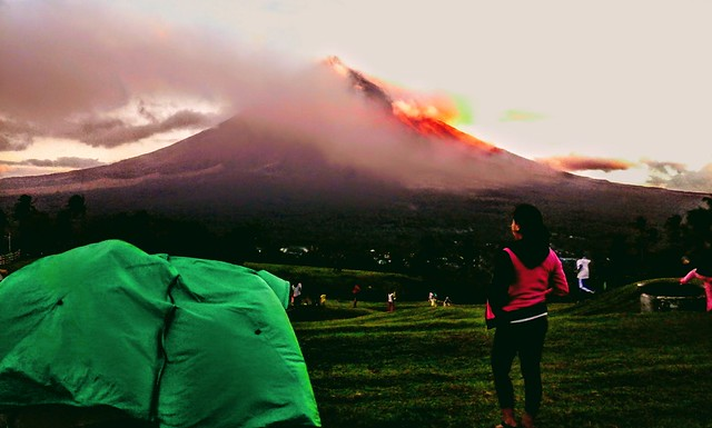 Mt. Mayon During Eruption