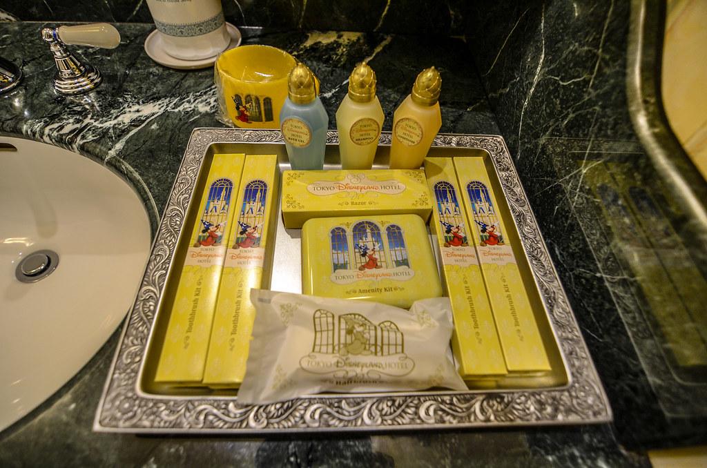 Tokyo Disneyland Hotel room toothbrush soap etc.